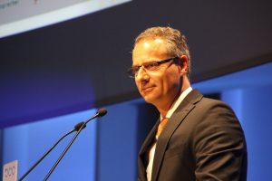 Uwe Dolderer, Präsident BdP, eröffnet den Kommunikationskongress 2012