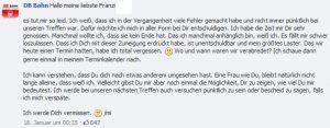 DB Bahn antwortet auf Franzi